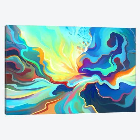 Burst Canvas Print #TOO3} by Alex Tooth Canvas Print