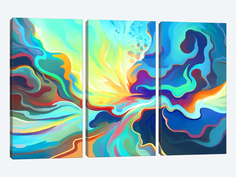 Burst by Alex Tooth 3-piece Art Print