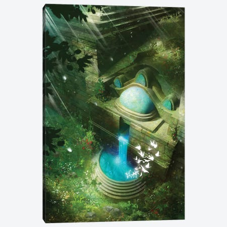 Ancient City Canvas Print #TOO41} by Alex Tooth Canvas Artwork