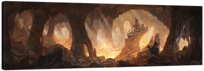 Caves Of Gold Canvas Art Print