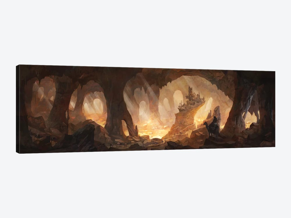 Caves Of Gold by Alex Tooth 1-piece Canvas Art Print