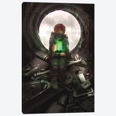 Dystopia Canvas Print #TOO49} by Alex Tooth Canvas Artwork