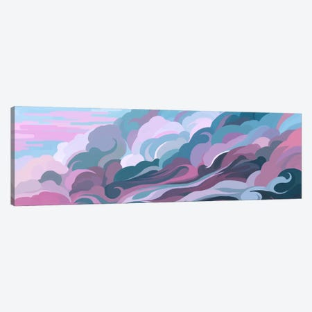 Clouds Canvas Print #TOO4} by Alex Tooth Canvas Wall Art