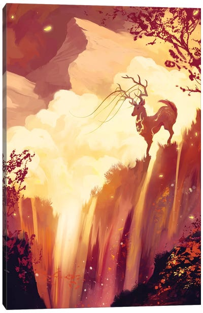 Firefalls Canvas Art Print