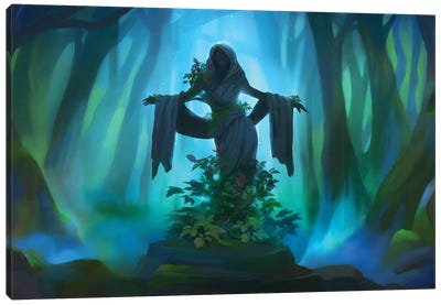 Forest Statue Canvas Art Print