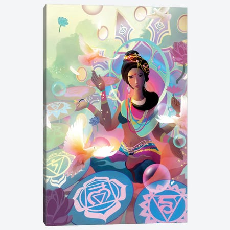 Lakshmi Canvas Print #TOO63} by Alex Tooth Canvas Art