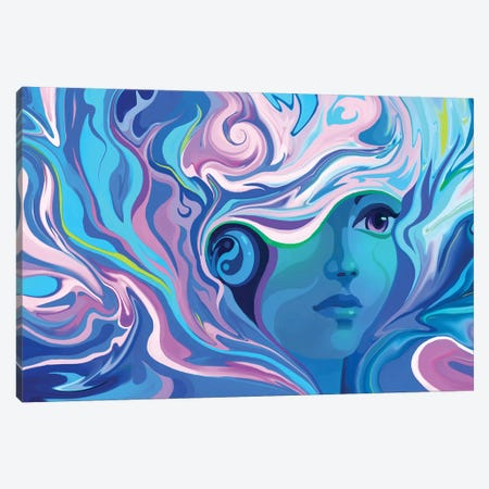 Melting 3-Piece Canvas #TOO65} by Alex Tooth Canvas Print
