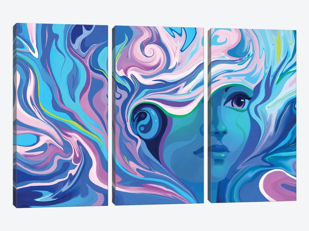 Melting by Alex Tooth 3-piece Canvas Wall Art
