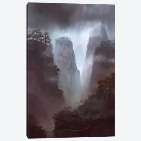 Morning Mist Canvas Print #TOO69} by Alex Tooth Canvas Wall Art