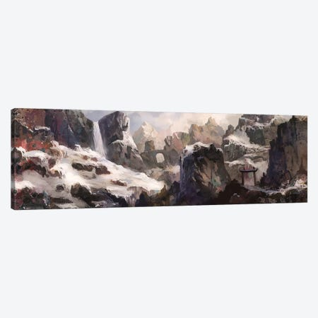 Mountain Pass Canvas Print #TOO70} by Alex Tooth Art Print