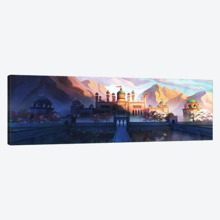 Oasis Palace 3-Piece Canvas #TOO72} by Alex Tooth Canvas Print
