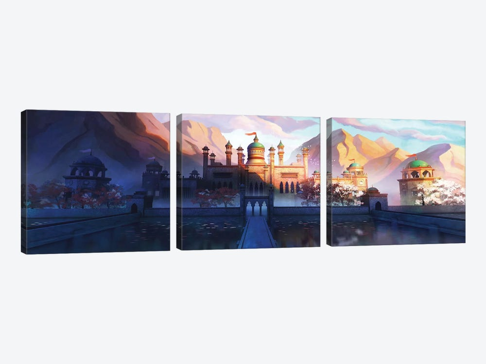 Oasis Palace by Alex Tooth 3-piece Canvas Wall Art
