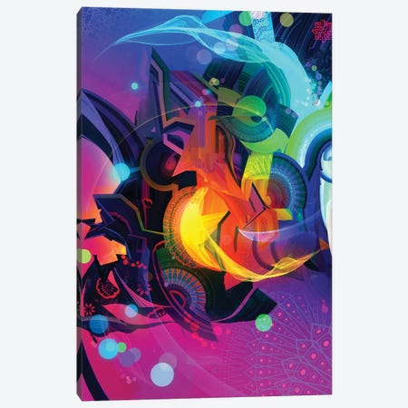 Polarity Canvas Print #TOO75} by Alex Tooth Canvas Artwork