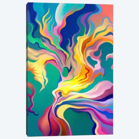 Express Canvas Print #TOO7} by Alex Tooth Canvas Artwork
