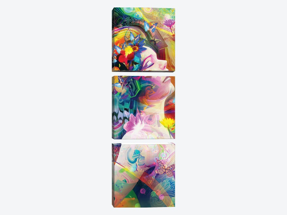 Spring Breeze by Alex Tooth 3-piece Canvas Art