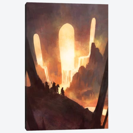 Travelers Canvas Print #TOO84} by Alex Tooth Art Print