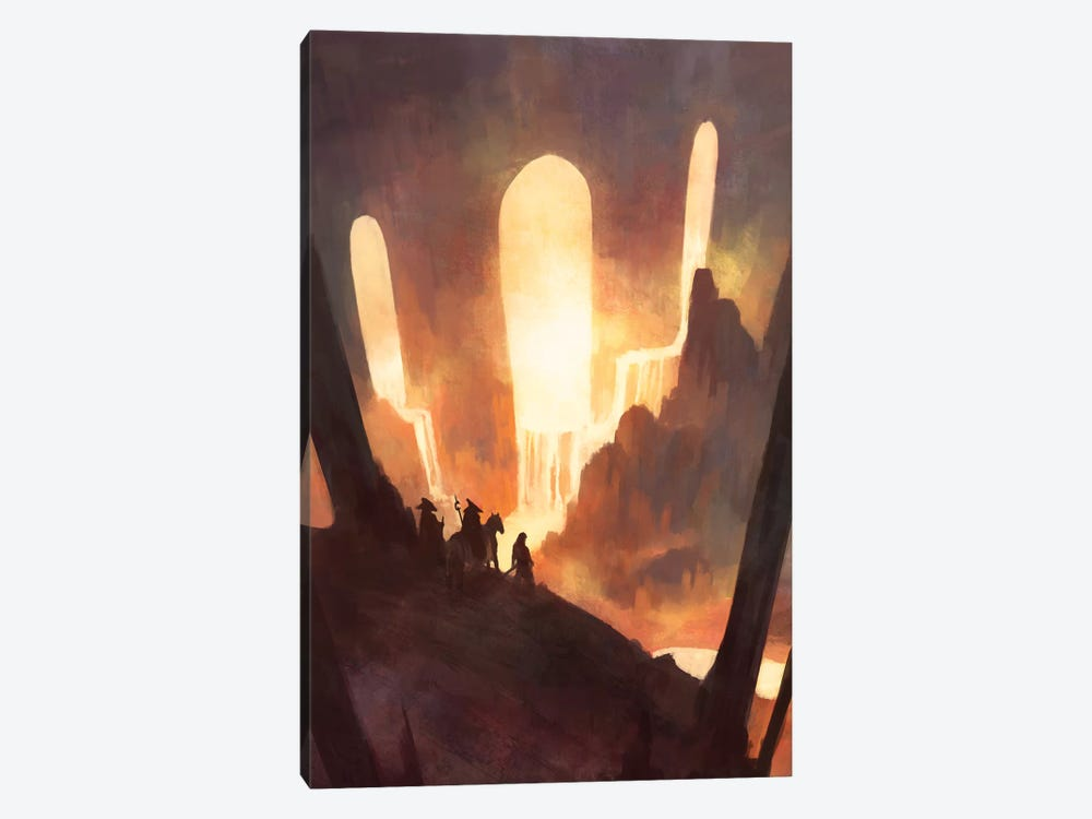 Travelers by Alex Tooth 1-piece Canvas Art Print