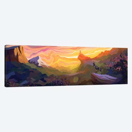 Valley Of The Sun Canvas Print #TOO86} by Alex Tooth Canvas Print