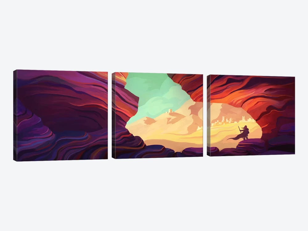 Follow The Wind by Alex Tooth 3-piece Art Print