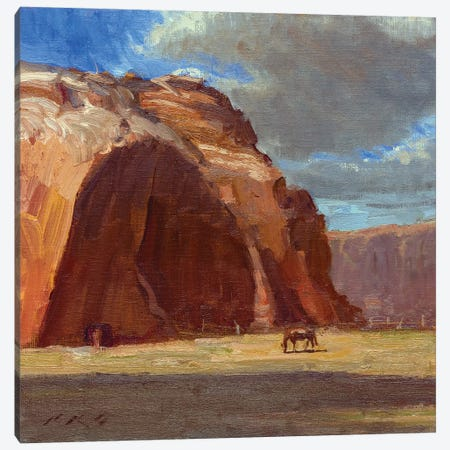 Johnson Canyon Pasture 3-Piece Canvas #TOP13} by Tony Pro Canvas Art