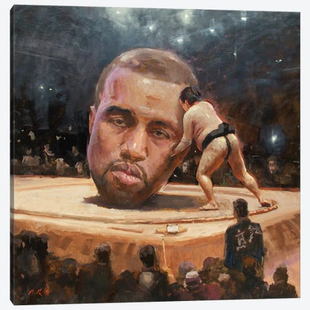 Kanye Sumo Canvas Print #TOP14} by Tony Pro Art Print