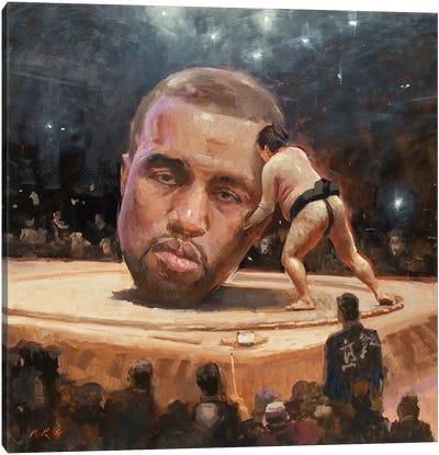 Kanye Sumo Canvas Art Print