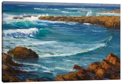 Windy Day At Carmel Canvas Art Print