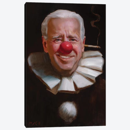 Joe Biden Canvas Print #TOP28} by Tony Pro Canvas Print
