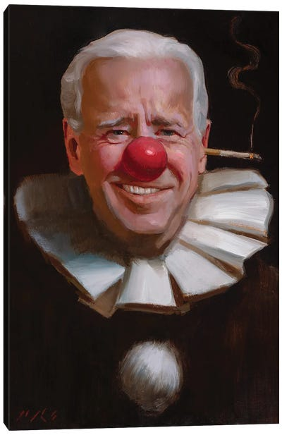 Joe Biden Canvas Art Print