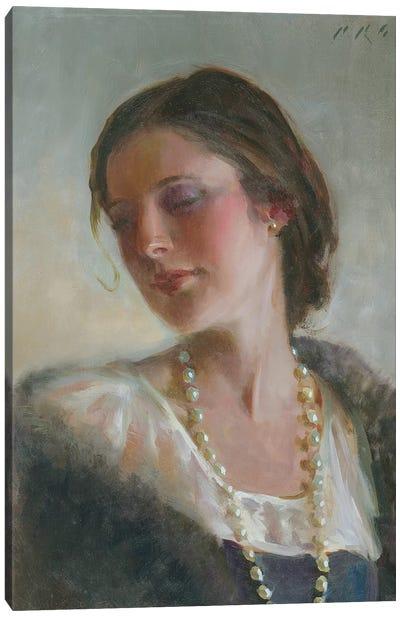 Anna's Pearls  Canvas Art Print