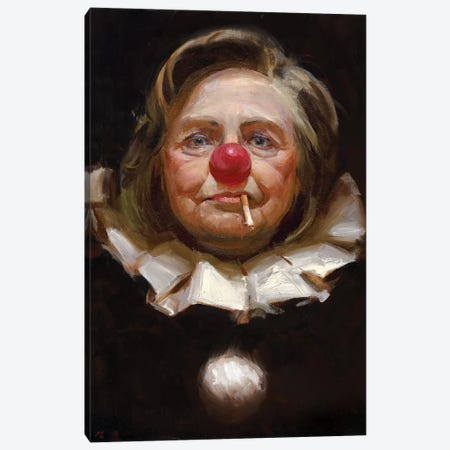 Hillary Clinton Canvas Print #TOP9} by Tony Pro Canvas Art Print