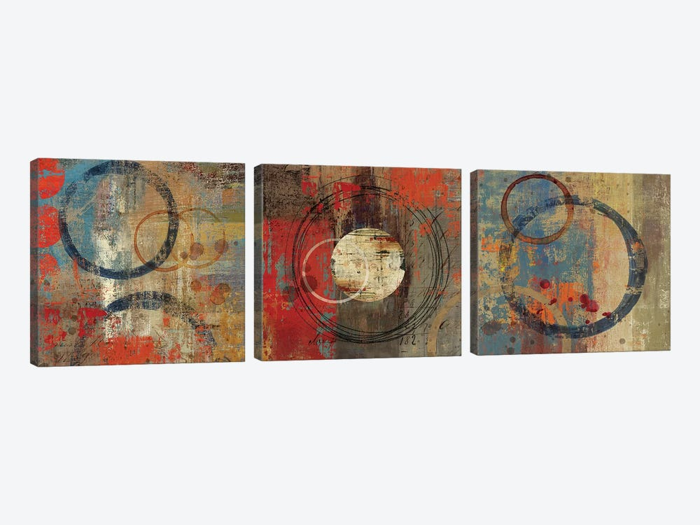 Splattered I by Tom Reeves 3-piece Canvas Print