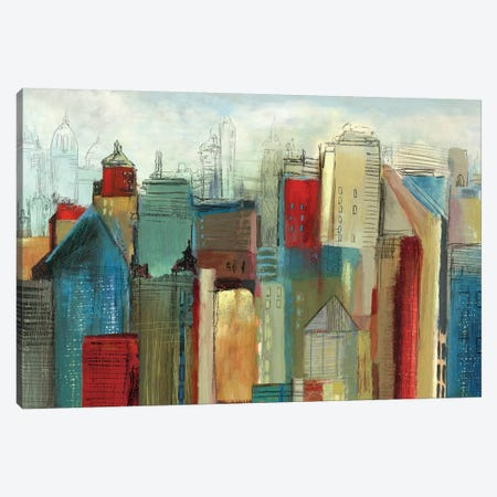 Sunlight City Canvas Print #TOR111} by Tom Reeves Art Print