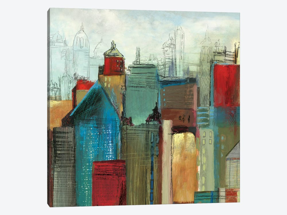 Sunlight City I, Square by Tom Reeves 1-piece Canvas Print