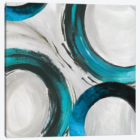 Teal Ring I Canvas Print #TOR114} by Tom Reeves Canvas Art