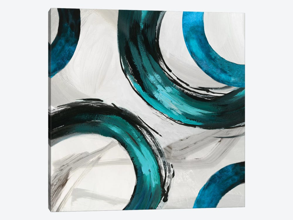 Teal Ring II by Tom Reeves 1-piece Canvas Wall Art
