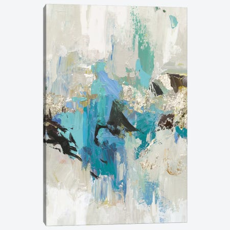 Blue Silver I Canvas Print #TOR127} by Tom Reeves Art Print