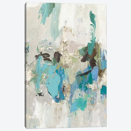 Blue Silver II Canvas Print #TOR128} by Tom Reeves Canvas Artwork