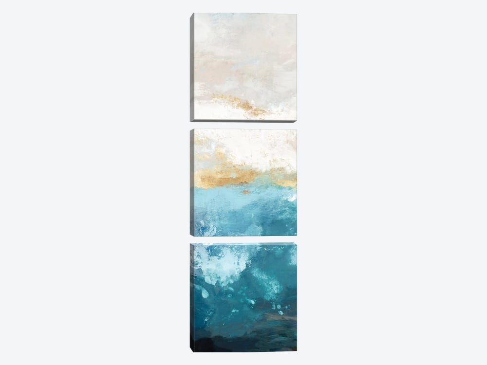 Water Gold II by Tom Reeves 3-piece Canvas Artwork