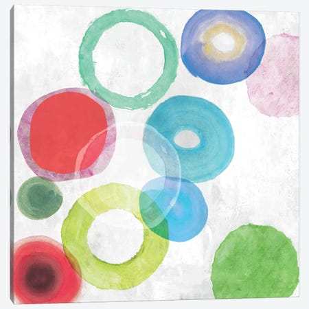 Colourful Rings I Canvas Print #TOR148} by Tom Reeves Canvas Artwork