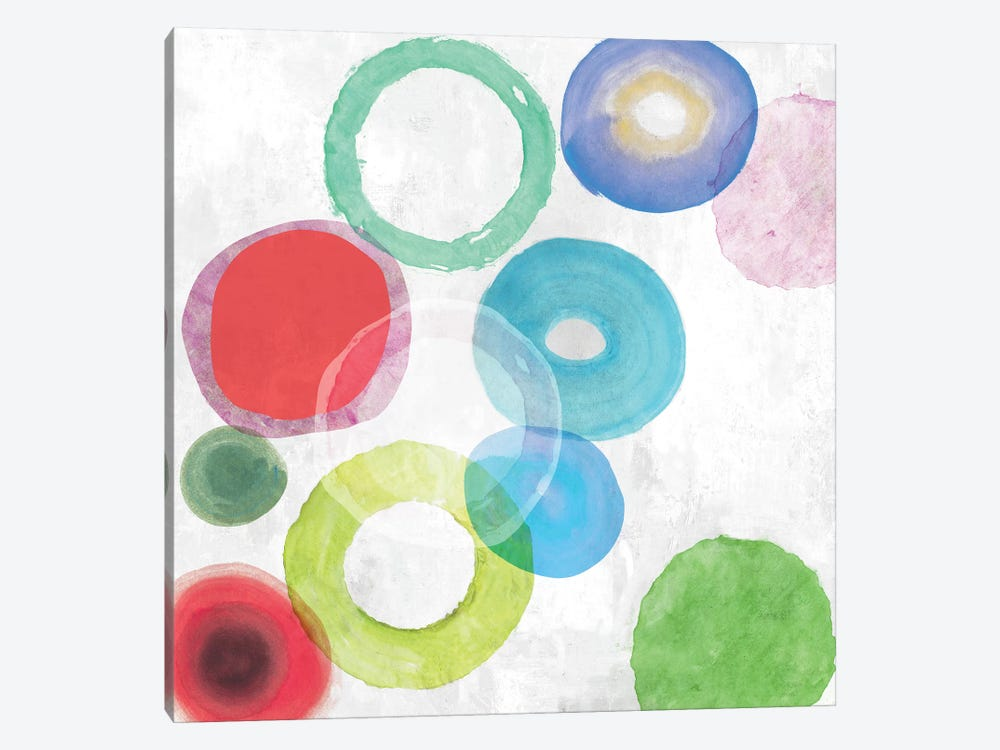 Colourful Rings I by Tom Reeves 1-piece Canvas Artwork