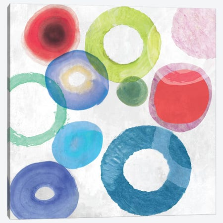 Colourful Rings II Canvas Print #TOR149} by Tom Reeves Canvas Artwork