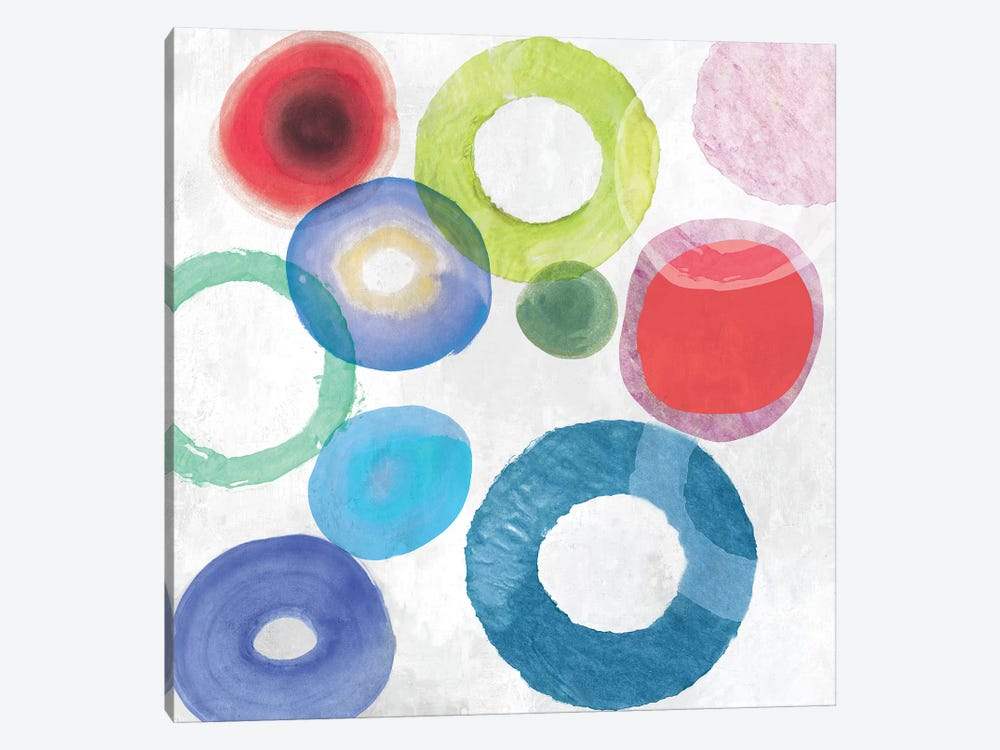 Colourful Rings II by Tom Reeves 1-piece Canvas Art Print