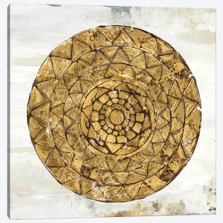 Gold Plate I Canvas Print #TOR150} by Tom Reeves Art Print