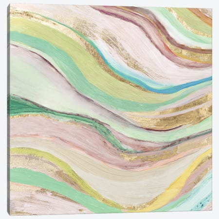 Pastel Waves I Canvas Print #TOR159} by Tom Reeves Canvas Art Print