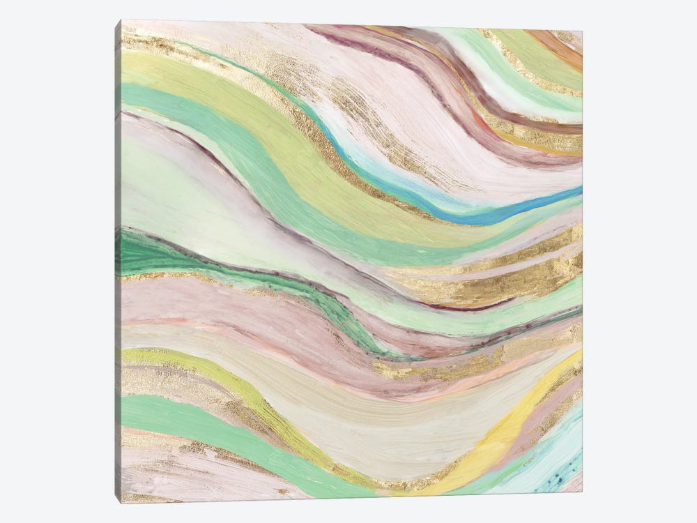 Pastel Waves I by Tom Reeves 1-piece Canvas Art