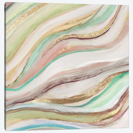 Pastel Waves II Canvas Print #TOR160} by Tom Reeves Canvas Artwork
