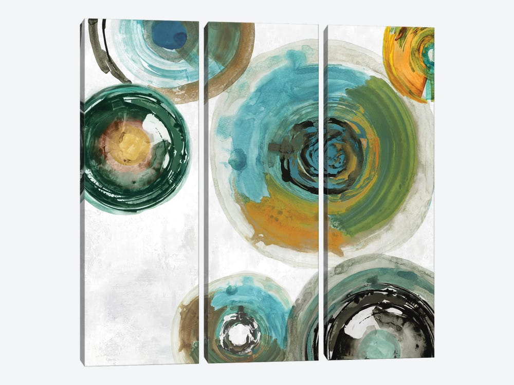 Spirals I by Tom Reeves 3-piece Canvas Print