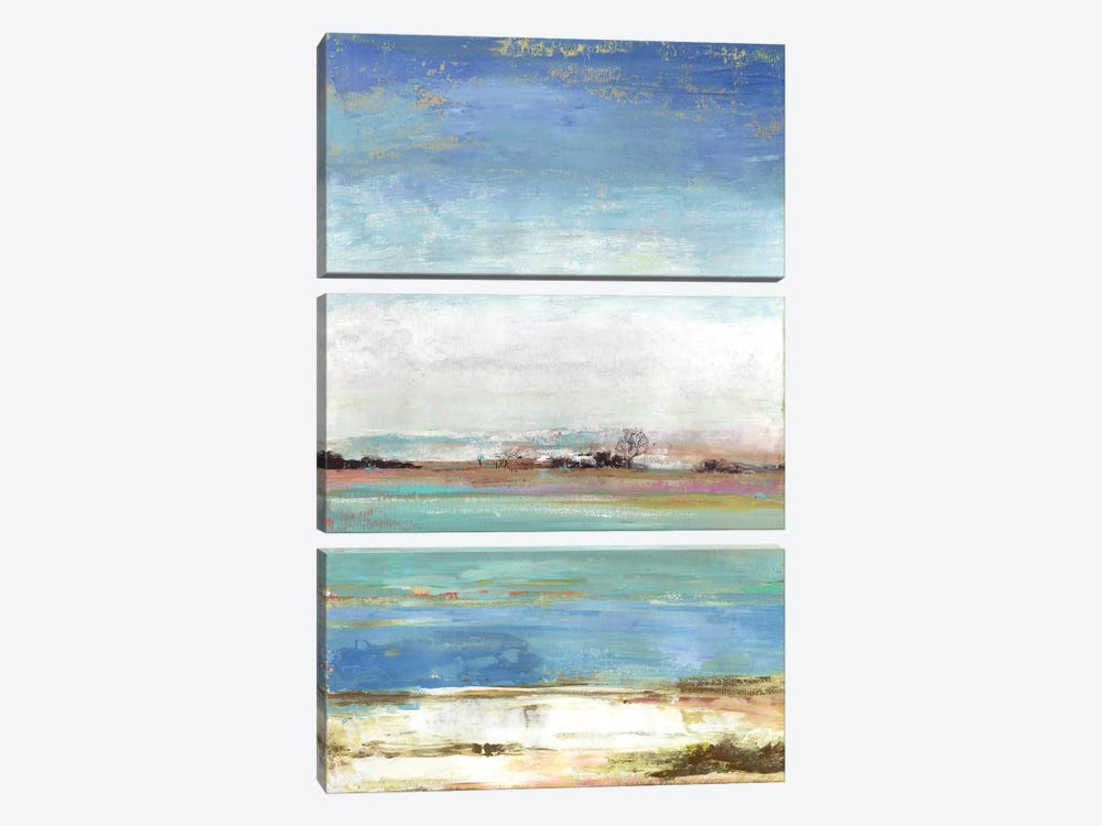Waterfront I by Tom Reeves 3-piece Canvas Wall Art
