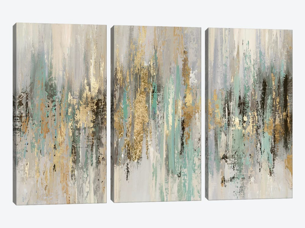 Dripping Gold I by Tom Reeves 3-piece Canvas Print